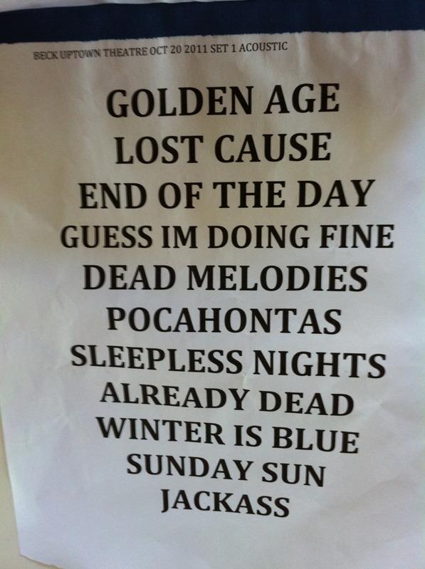 setlist 1