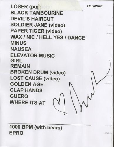 the setlist, autographed